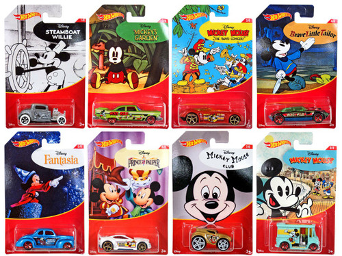 Disney Hot Wheels Mickey Mouse Die Cast Car Set
