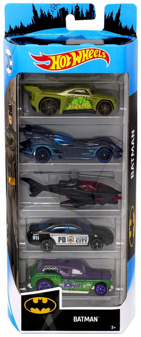 Hot Wheels Batman Diecast Car 5-Pack [Version 2]