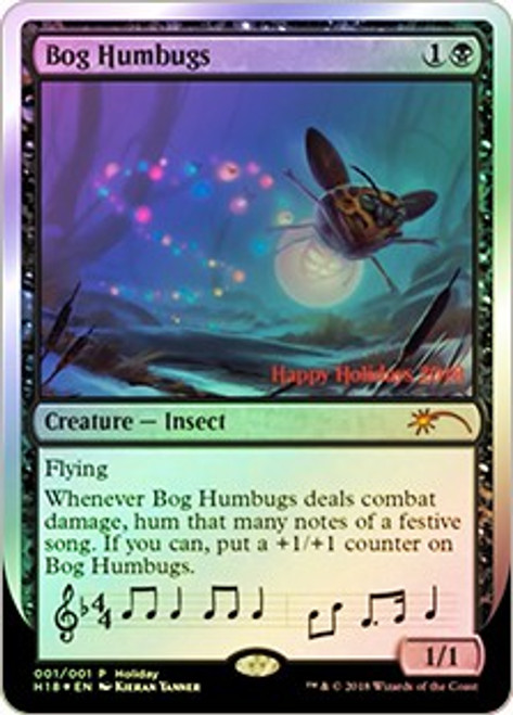 MtG Assorted Promo Cards Promo Bog Humbugs [Happy Holidays 2018 Foil]