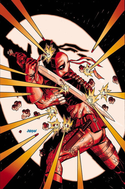 DC Deathstroke #39 Arkham Comic Book [Johnson Variant Cover]