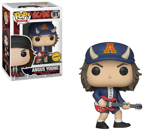 Funko AC / DC POP! Rocks Angus Young Vinyl Figure #91 [Devil Horned Hat, Chase Version]