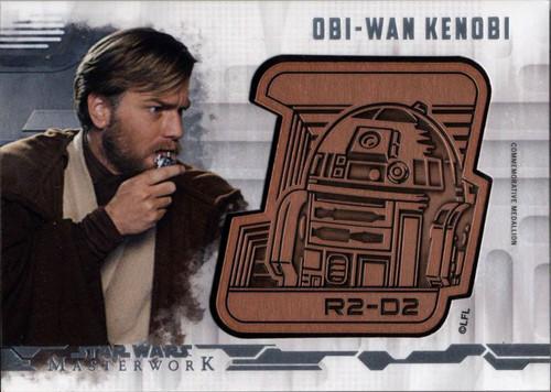 Star Wars Topps 2017 Masterwork 120/150 Obi-Wan Kenobi / R2-D2 DM-OK [Droid Medallion]