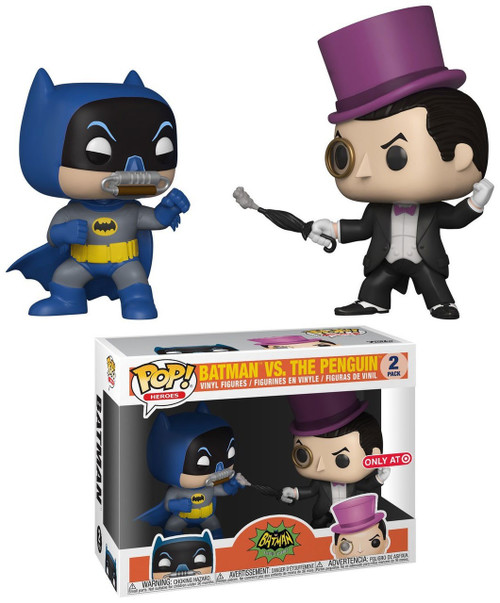 Funko Batman 1966 TV Series POP! Heroes Batman Vs. The Penguin Exclusive Vinyl Figure 2-Pack