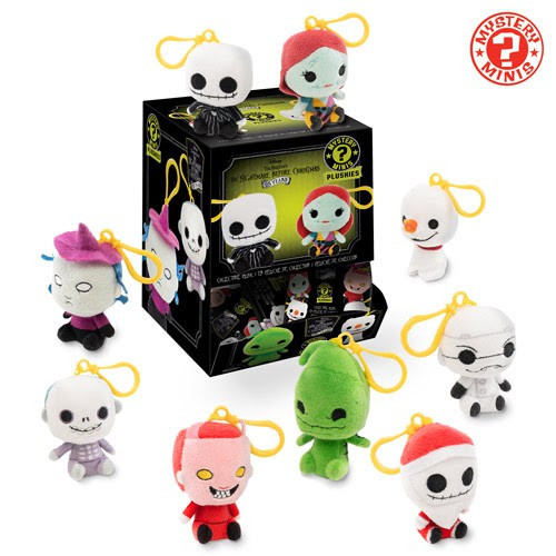 Funko Nightmare Before Christmas Mystery Minis Plush Keychains NBX 2.5-Inch Mystery Box [18 Packs]