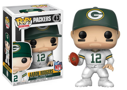 Funko NFL Green Bay Packers POP! Sports Football Aaron Rodgers Vinyl Figure #43 [Color Rush, Damaged Package]
