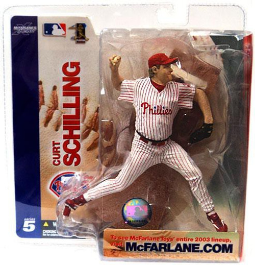 McFarlane Toys MLB Philadelphia Phillies Sports Picks Series 5 Curt Schilling Action Figure [White Jersey Variant, Damaged Package]