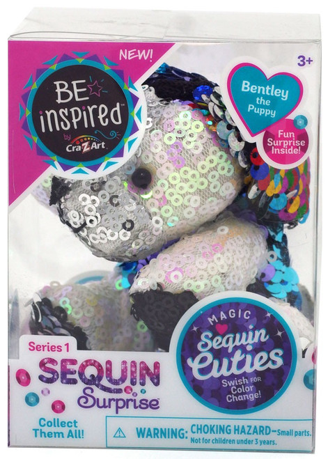 Shimmer 'n Sparkle Magic Sequin Cuties Sequin Surprise Series 1 Bentley the Puppy Mini Plush [White]
