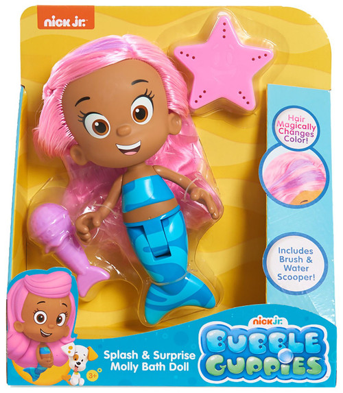Bubble Guppies Splash & Surprise Molly Bath Doll