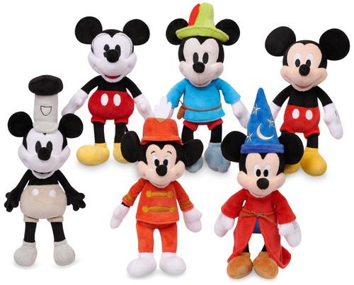 Disney Mickey the True Original Mickey Through the Years 10-Inch Plush 6-Pack