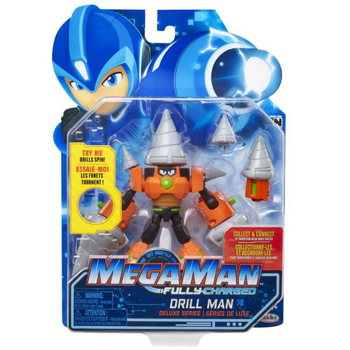 Mega Man Fully Charged Series 1 Drill Man Deluxe Action Figure
