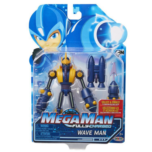 Mega Man Fully Charged Series 1 Wave Man Action Figure