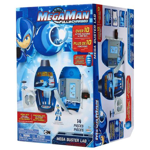 Mega Man Fully Charged Mega Buster Lab 9.25-Inch Playset