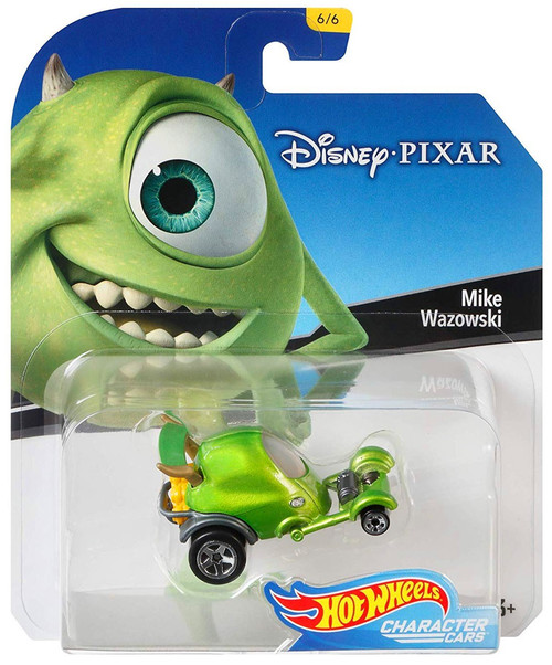 Disney Hot Wheels Character Cars Mike Wazowski Die Cast Car #6/6