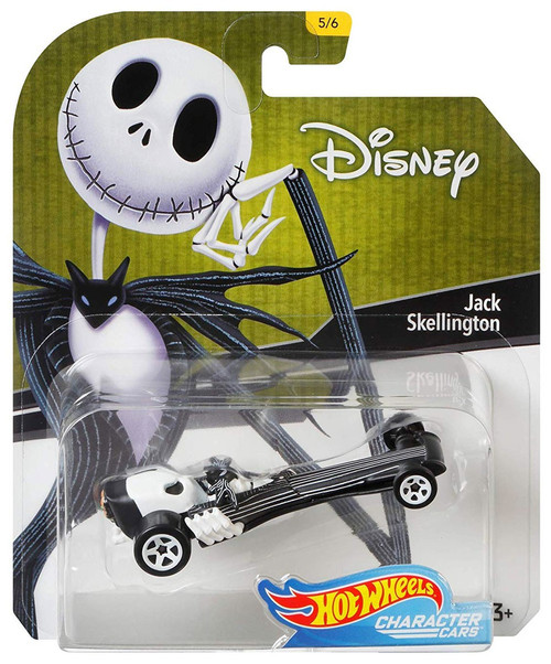 Disney Hot Wheels Character Cars Jack Skellington Die Cast Car #5/6
