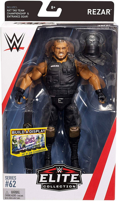 WWE Wrestling Elite Collection Series 62 Rezar Action Figure [NXT Tag Team Championship & Entrance Gear]