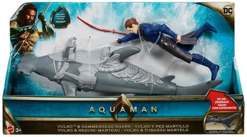DC Aquaman Movie Vulko & Hammerhead Shark Action Figure Set