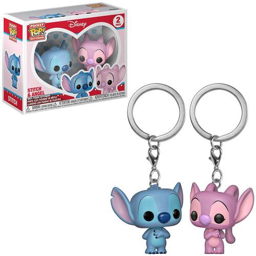 Funko Lilo & Stitch POP! Disney Stitch & Angel Keychain 2-Pack