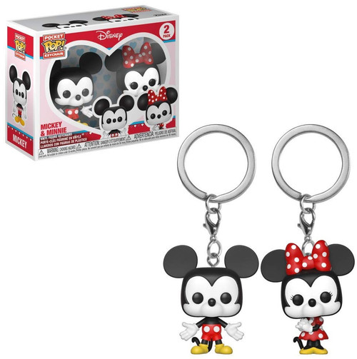 Funko POP! Disney Mickey & Minnie Keychain 2-Pack