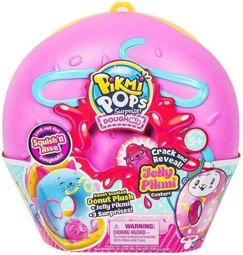 Pikmi Pops Surprise! Doughmi MEDIUM Mystery Pack [Scented Plush Donut, Jelly Center, RANDOM Color]