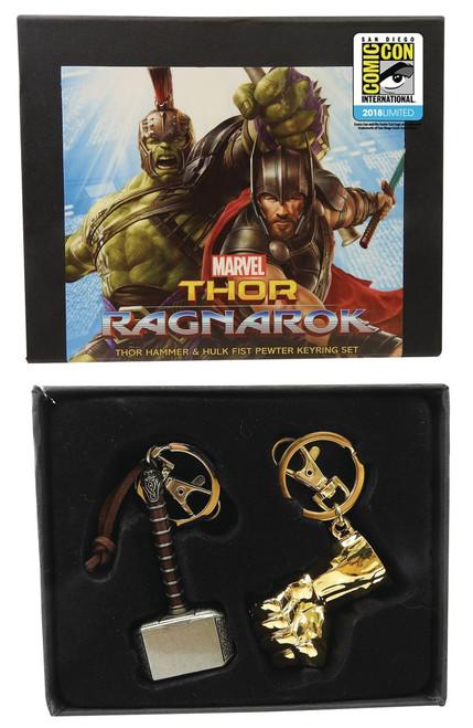 Marvel Thor: Ragnarok Thor's Hammer & Hulk's Fist Exclusive Keychain Set