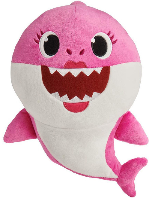 Pinkfong Baby Shark Mommy Shark 10-Inch Plush Doll with Sound [Pink]