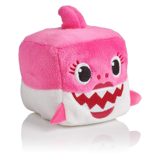 Pinkfong Baby Shark Mommy Shark Plush Cube with Sound [Pink]