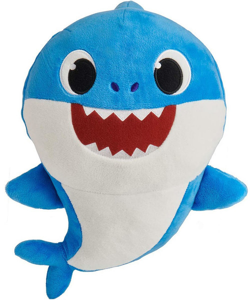 Pinkfong Baby Shark Daddy Shark 10-Inch Plush Doll with Sound [Blue]