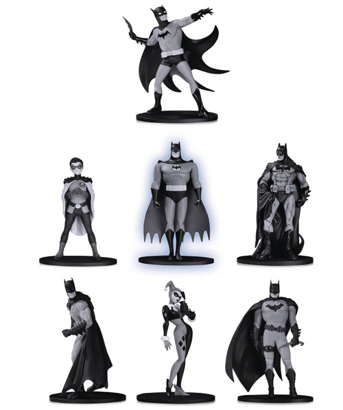 Black & White Batman Set 2 3.75-Inch Mini Statue Box [7 Statues!]