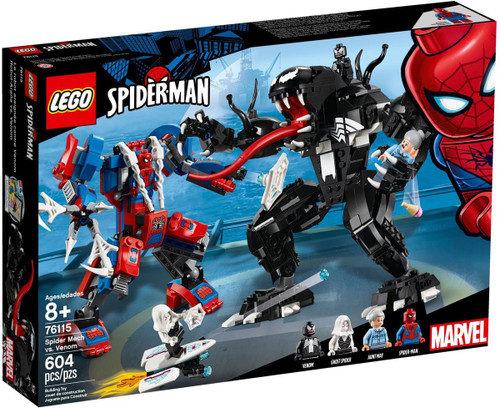 LEGO Marvel Spider-Man Spider Mech vs. Venom Set #76115