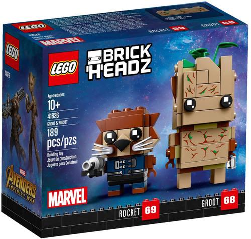 LEGO Marvel Brick Headz Groot & Rocket Mini Set