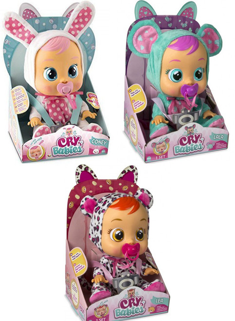 Cry Babies Lea, Coney & Lala Set of 3 Dolls