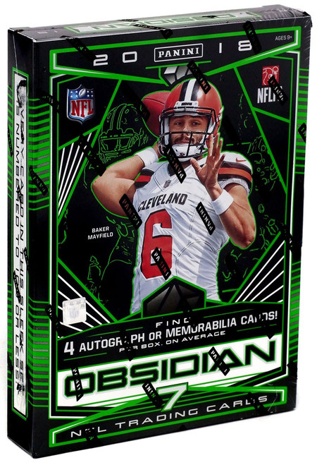 NFL Panini 2018 Obsidian Football Trading Card HOBBY Box [7 Cards]