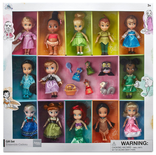 Disney 2018 Animators Collection Exclusive 13-Piece Mini Doll Gift Set