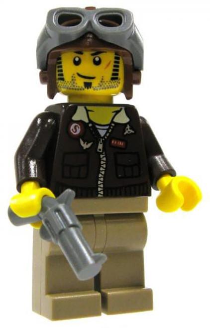 LEGO Pharaoh's Quest Pilot Jake Raines Minifigure #1 [Loose]