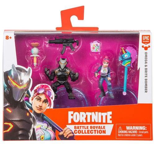 Fortnite Epic Games Battle Royale Collection Omega & Brite Bomber 2-Inch Mini Figure 2-Pack