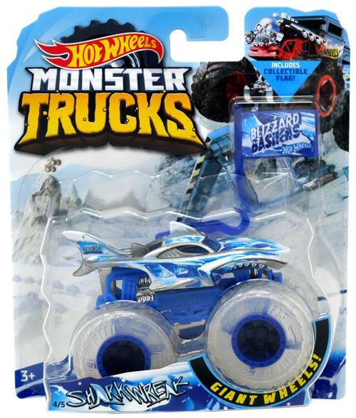 Hot Wheels Monster Trucks Blizzard Bashers Shark Wreak Die-Cast Car