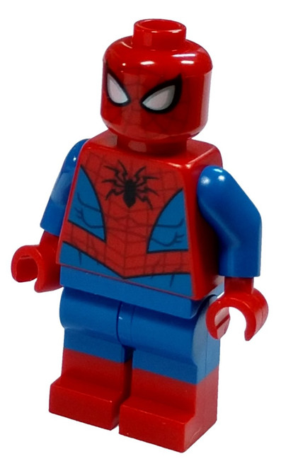 LEGO Marvel Super Heroes Spider-Man Minifigure [Metallic Silver Eye Highlights Loose]