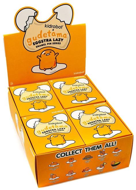 Sanrio Gudetama Enamel Pin Eggstra Lazy 3-Inch Mystery Box [20 Packs] (Pre-Order ships October)