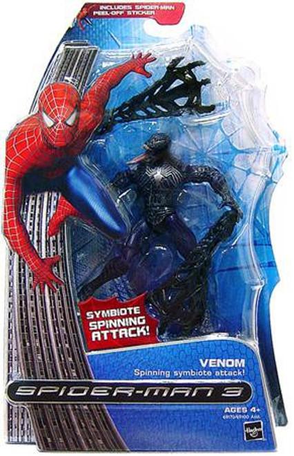 Spider-Man 3 Venom Action Figure [Spinning Symbiote Attack, Damaged Package]