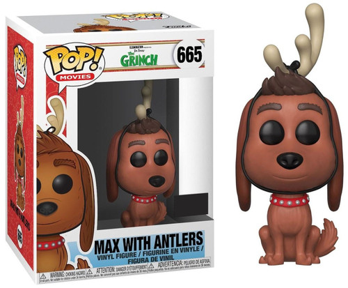 Funko Dr. Seuss How the Grinch Stole Christmas! POP! Movies Max with Antlers Exclusive Vinyl Figure #665