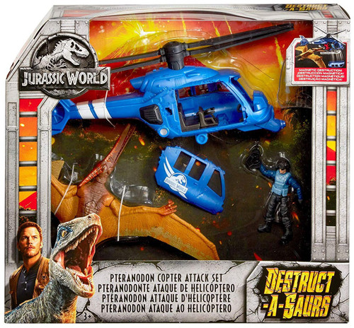 Jurassic World Fallen Kingdom Destruct-A-Saurs Pteranodon Copter Attack Set 3.75-Inch