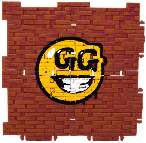 Fortnite Building Material with GG smiley face 4-Inch Figure Accessory [Loose]