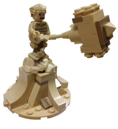 LEGO Marvel Spider-Man Sandman Minifigure [with Sandbase and Sand Mallet Loose]