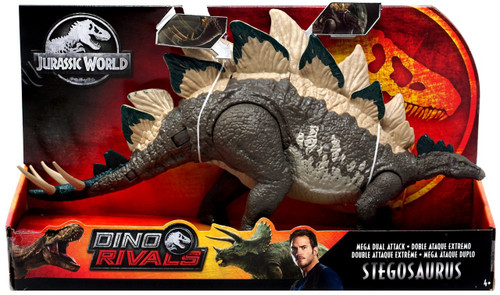 Jurassic World Fallen Kingdom Dino Rivals Stegosaurus Action Figure [Mega Dual Attack]