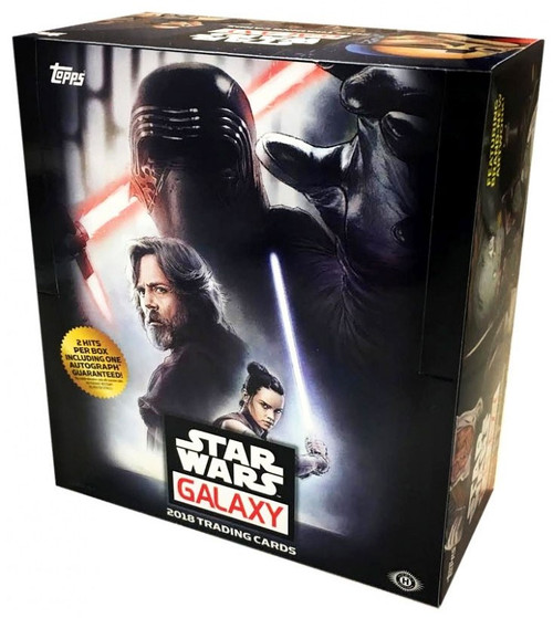 Star Wars Topps 2018 Galaxy Trading Card HOBBY Box [24 Packs]