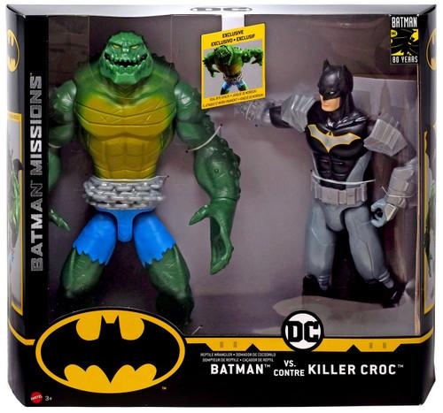 DC Batman Missions Batman vs. Killer Croc Action Figure 2-Pack