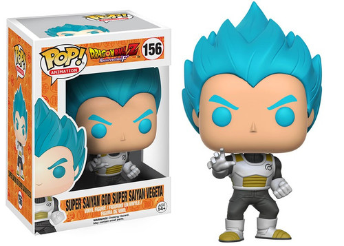 Funko Dragon Ball Z POP! Animation Super Saiyan God Super Saiyan Vegeta Vinyl Figure #156 [Resurrection of F, Loose]