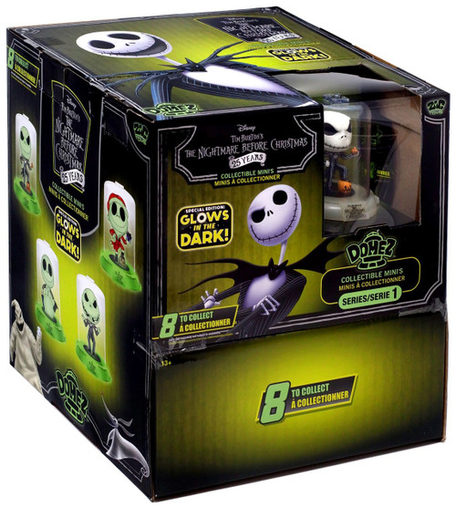 Disney Domez Series 1 Nightmare Before Christmas Mystery Box [24 Packs, Glow-in-the-Dark]