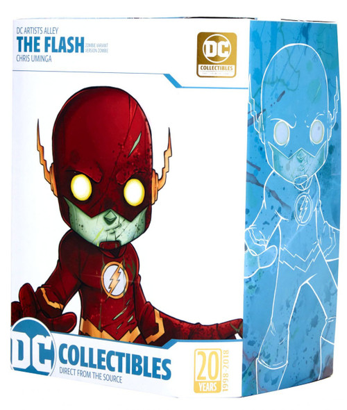 DC Artist Alley The Flash 6.6-Inch PVC Collector Statue [Chris Uminga, Zombie Variant]