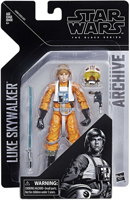 Star Wars A New Hope Black Series Archive Wave 1 Luke Skywalker Action Figure [Pilot]
